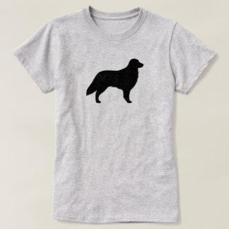 Camiseta Silueta revestida plana del perro perdiguero