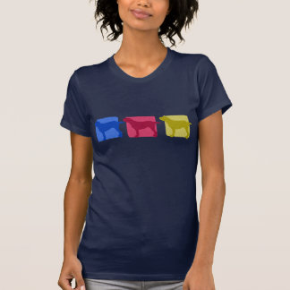 Camiseta Siluetas coloridas de Spinone Italiano