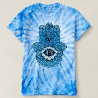 Camiseta Símbolo astral de Hamsa del teñido anudado Trippy