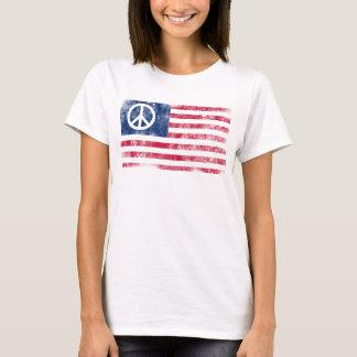 Camiseta Símbolo de paz patriótico en bandera americana