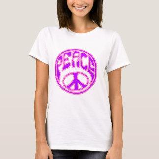 Camiseta Símbolo de paz rosado de neón