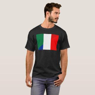 Camiseta símbolo del país de la bandera de Italia Francia