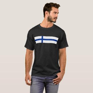 Camiseta símbolo largo de la bandera de país de Finlandia