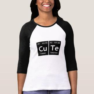 Camiseta Símbolo lindo del elemento de palabras de la tabla