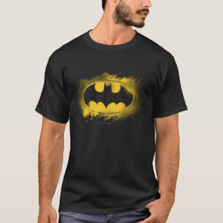 Camiseta Símbolo logotipo negro y amarillo del   de Batman