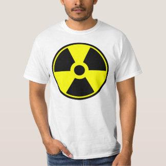 Camiseta Símbolo radiactivo del símbolo de la radiación