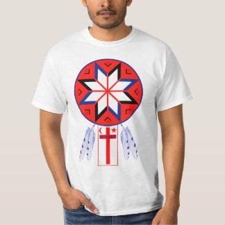 Camiseta Símbolo tripartito y bandera del foro de Mi'Kmaq