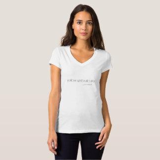 camiseta simple con decir