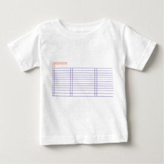 Camiseta simple del bebé de la lista de