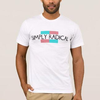 Camiseta simplemente radical del logotipo