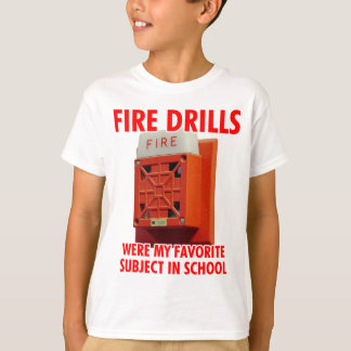 Camiseta Simulacros de incendio