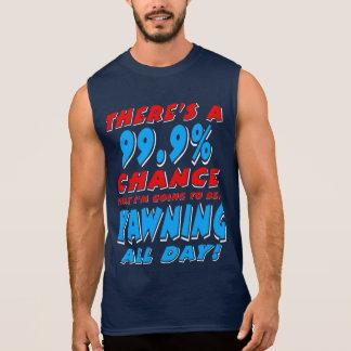 Camiseta Sin Mangas 99,9% BOSTEZO TODO EL DÍA (blanco)