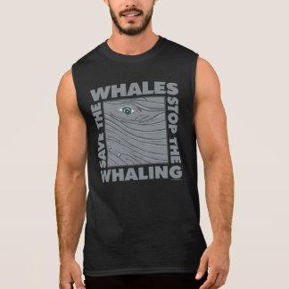 Camiseta Sin Mangas Ahorre las ballenas