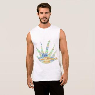 Camiseta Sin Mangas Alove Vera ilustrada con las ciudades de la