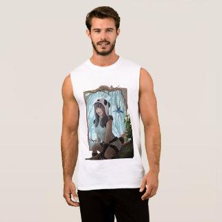 Camiseta Sin Mangas amo la panda