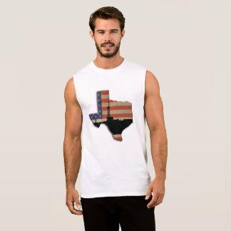 Camiseta Sin Mangas Aparejo patriótico de la perforación petrolífera