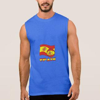 Camiseta Sin Mangas Bola y bandera españolas de fútbol