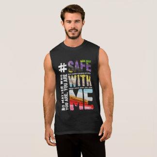 Camiseta Sin Mangas Caja fuerte conmigo el tanque oscuro del músculo