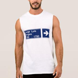 Camiseta Sin Mangas Calle Jorge Luis Borges, placa de calle de Buenos