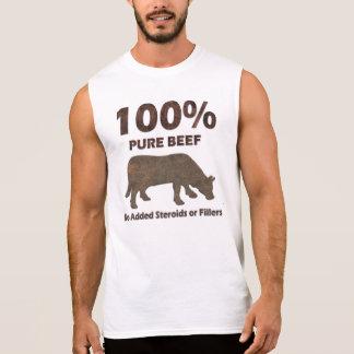 Camiseta Sin Mangas Carne de vaca pura del 100% ningunos esteroides