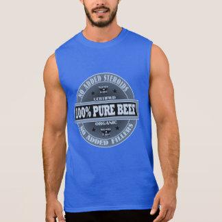 Camiseta Sin Mangas Carne de vaca pura del 199% ningunos esteroides