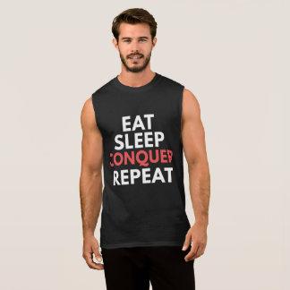 Camiseta Sin Mangas Coma el sueño conquistan la repetición