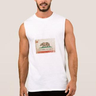 Camiseta sin mangas con la bandera de California