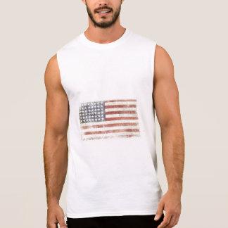 Camiseta Sin Mangas Camiseta sin mangas con la bandera fresca de los