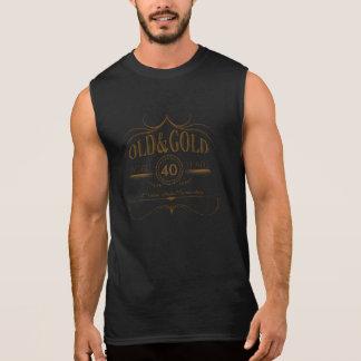 Camiseta Sin Mangas Cualquie oro viejo OGSA del cumpleaños