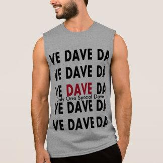 Camiseta Sin Mangas Dave con la plantilla del texto