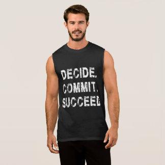 Camiseta Sin Mangas Decida confían los tanques de la motivación del