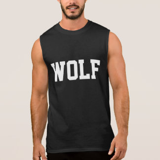 Camiseta sin mangas del lobo
