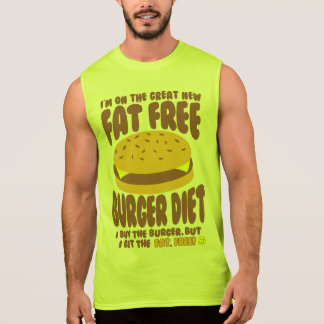 Camiseta Sin Mangas Dieta sin grasa de la hamburguesa