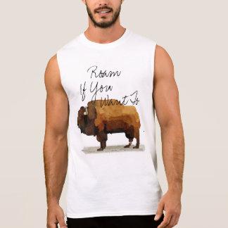 """Camiseta Sin Mangas El búfalo de los hombres """"vaga por si usted"""
