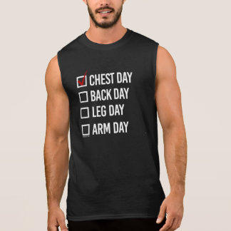 Camiseta Sin Mangas El hoy es día del pecho -   aptitud del