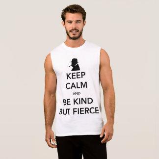 Camiseta Sin Mangas El tanque del músculo de los hombres feroces