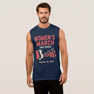 Camiseta Sin Mangas El tanque oficial de marzo San Diego marzo de las