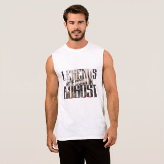Camiseta Sin Mangas Feliz cumpleaños en agosto