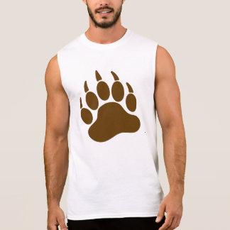 Camiseta Sin Mangas Garra de oso del orgullo del oso de Brown (l)