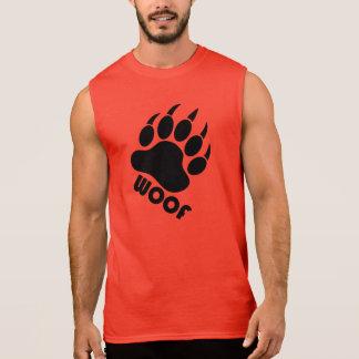 Camiseta Sin Mangas Garra del orgullo del oso del tejido (negro)