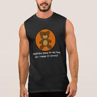 Camiseta Sin Mangas Goldilocks hizo pis en mi oso gay de la cama