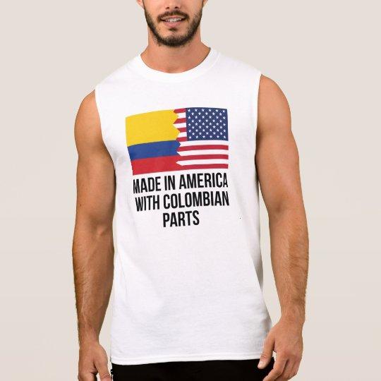 Camiseta Sin Mangas Hecho en América con las piezas colombianas