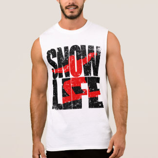 Camiseta Sin Mangas Huésped rojo de la VIDA de la NIEVE (negro)
