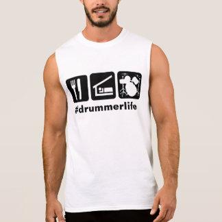 Camiseta Sin Mangas Iconos de los tambores de Eat Sleep Play