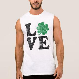 Camiseta Sin Mangas Irlandés del trébol del AMOR del día de St Patrick