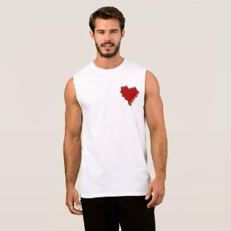 Camiseta Sin Mangas Kathryn. Sello rojo de la cera del corazón con