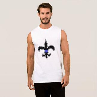 Camiseta Sin Mangas La aplicación de ley de los santos Blue Line fino