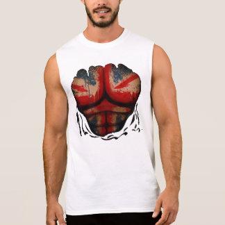 Camiseta Sin Mangas La bandera BRITÁNICA de Union Jack Muscles la