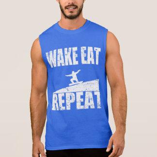 Camiseta Sin Mangas La estela come la repetición #2 de la snowboard