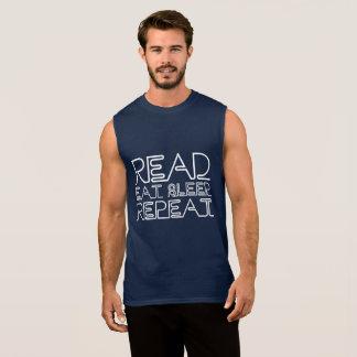 Camiseta Sin Mangas Leído, coma, duerma, repita